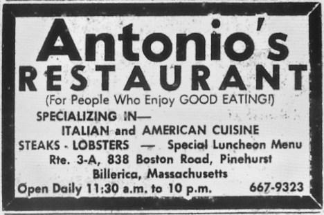 Antonio's Restaurant, Billerica, MA