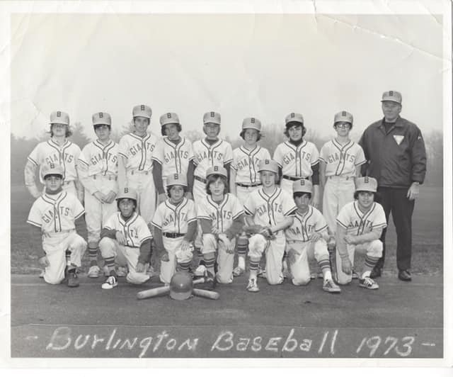 Burlington MA baseball 1973. Photo credit: Mark Lutinski
