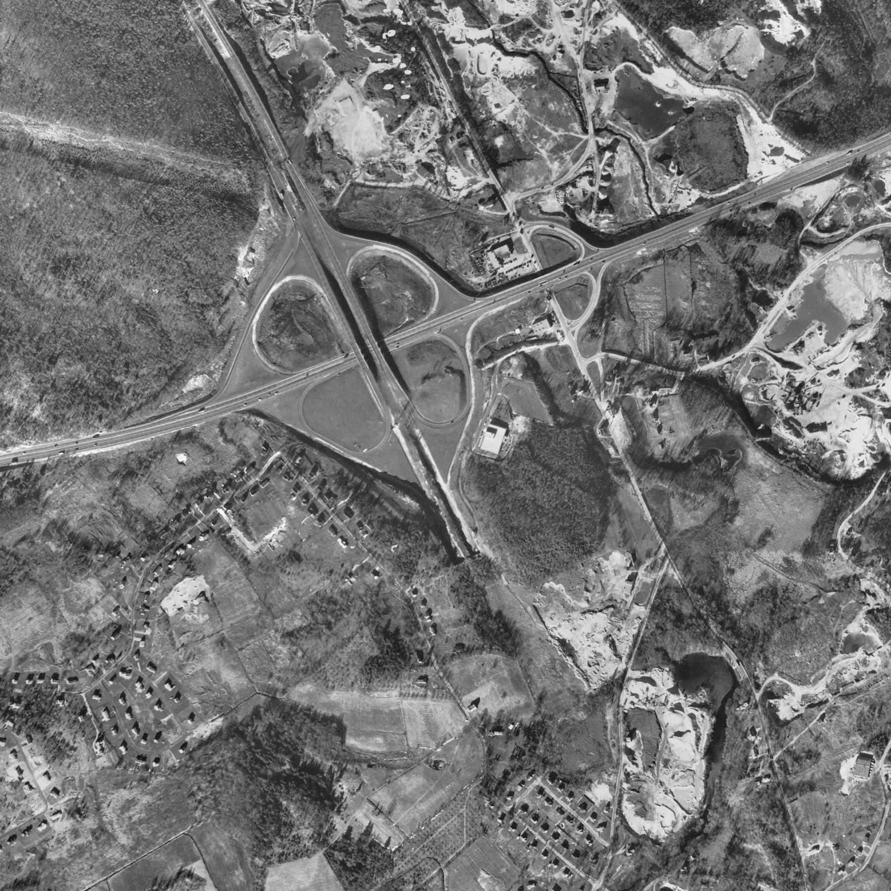 Route 3 and Route 128 interchange Burlington MA 1955