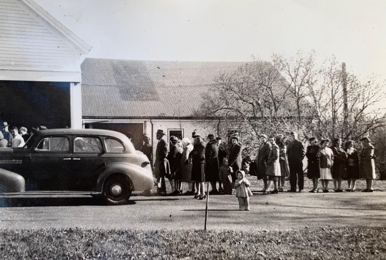Reed Ham Works bacon line 1945. Photo credit: Guy Reed III