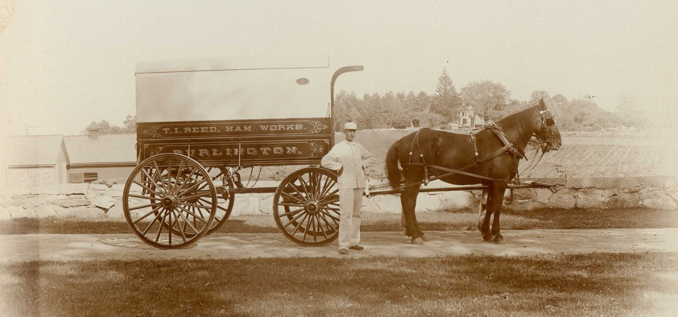 Reed Ham Works delivery truck, Burlington MA. Burlington Archives