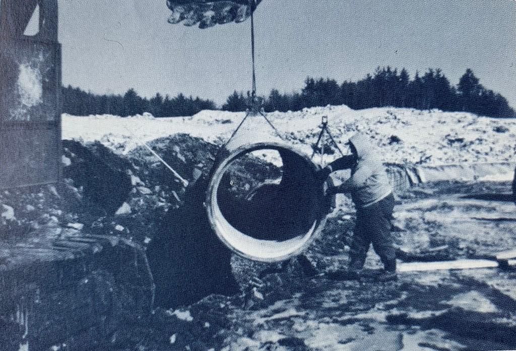 Mill Pond Reservoir water pipe installation Burlington MA