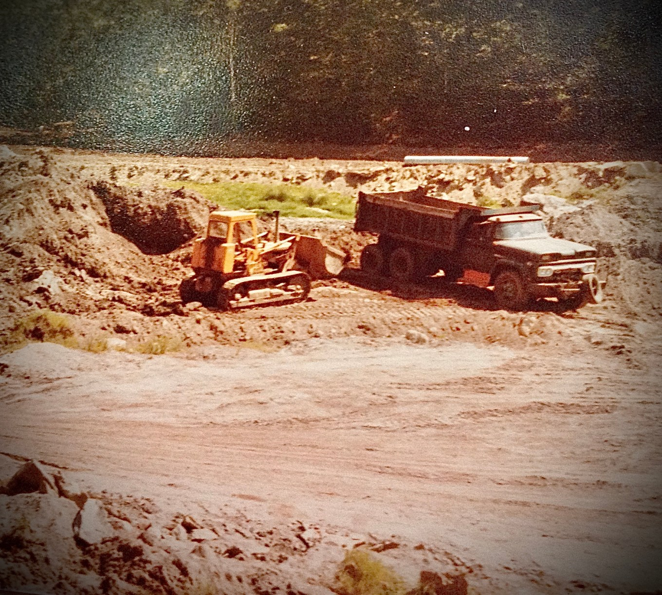 Mill Pond Reservoir construction c. 1971