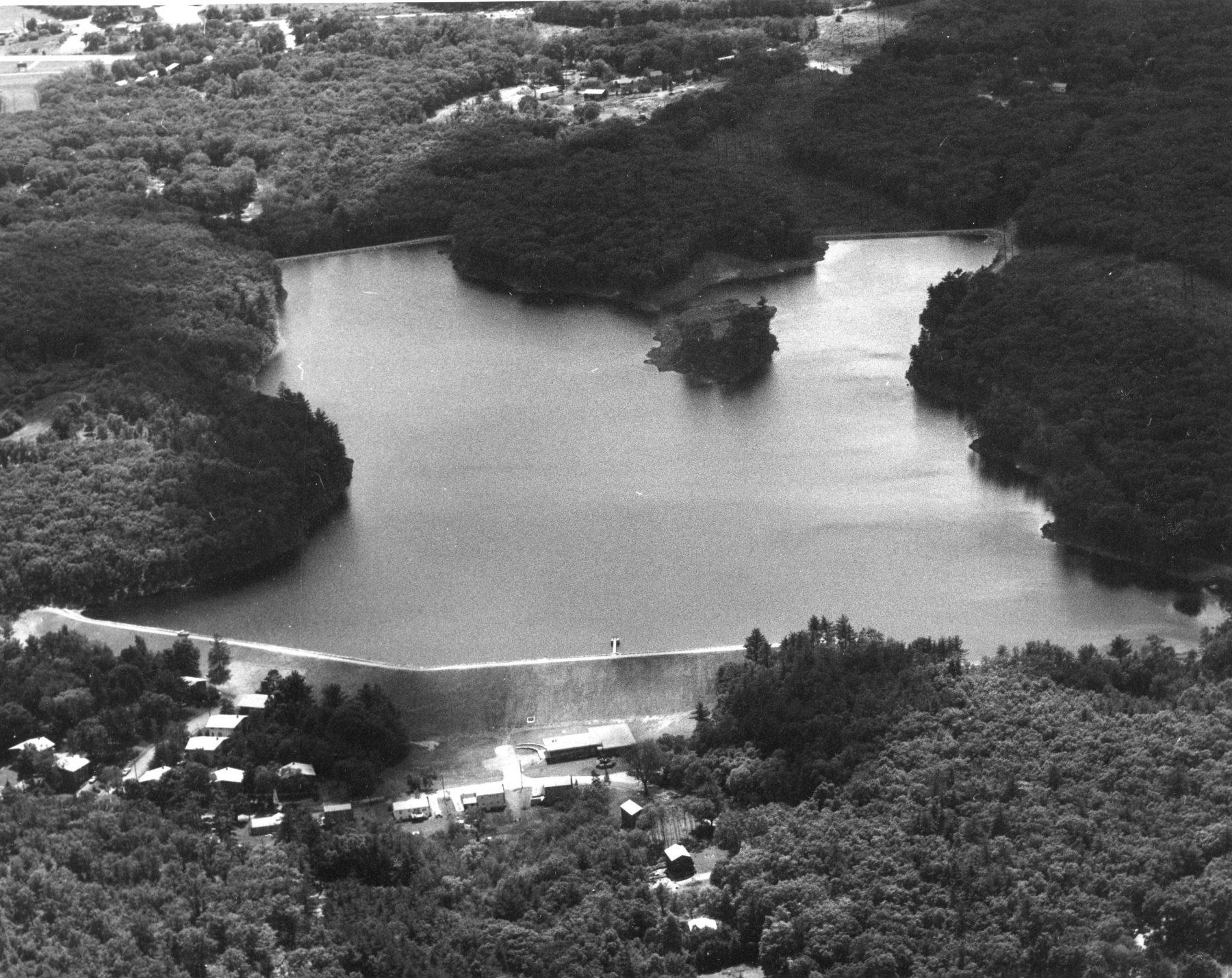 The new Mill Pond Reservoir, Burlington MA