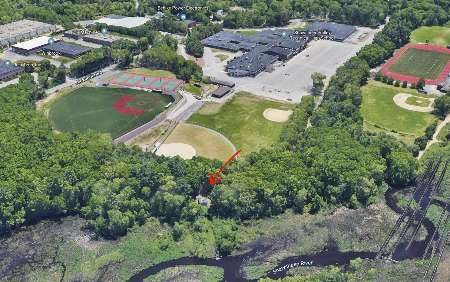 Shawsheen Valley Technical High School aerial