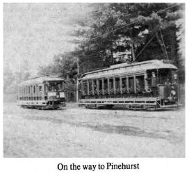 Trolley cars heading to Pinehurst, Billerica MA