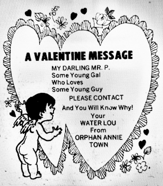 Valentine message