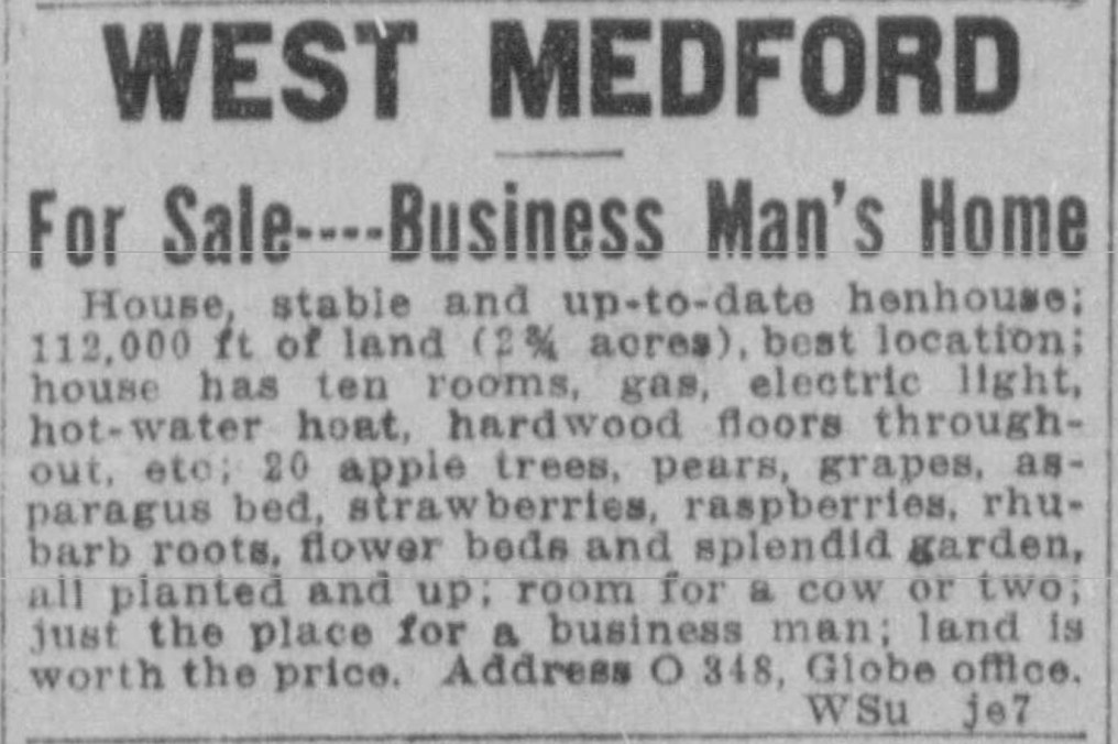West Medford real estate 1915