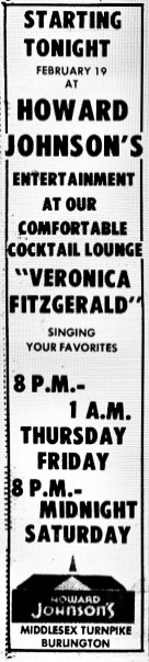 Veronica Fitzgerald at Howard Johnson's Burlington MA