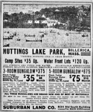 Nuttings Lake Park Billerica1917