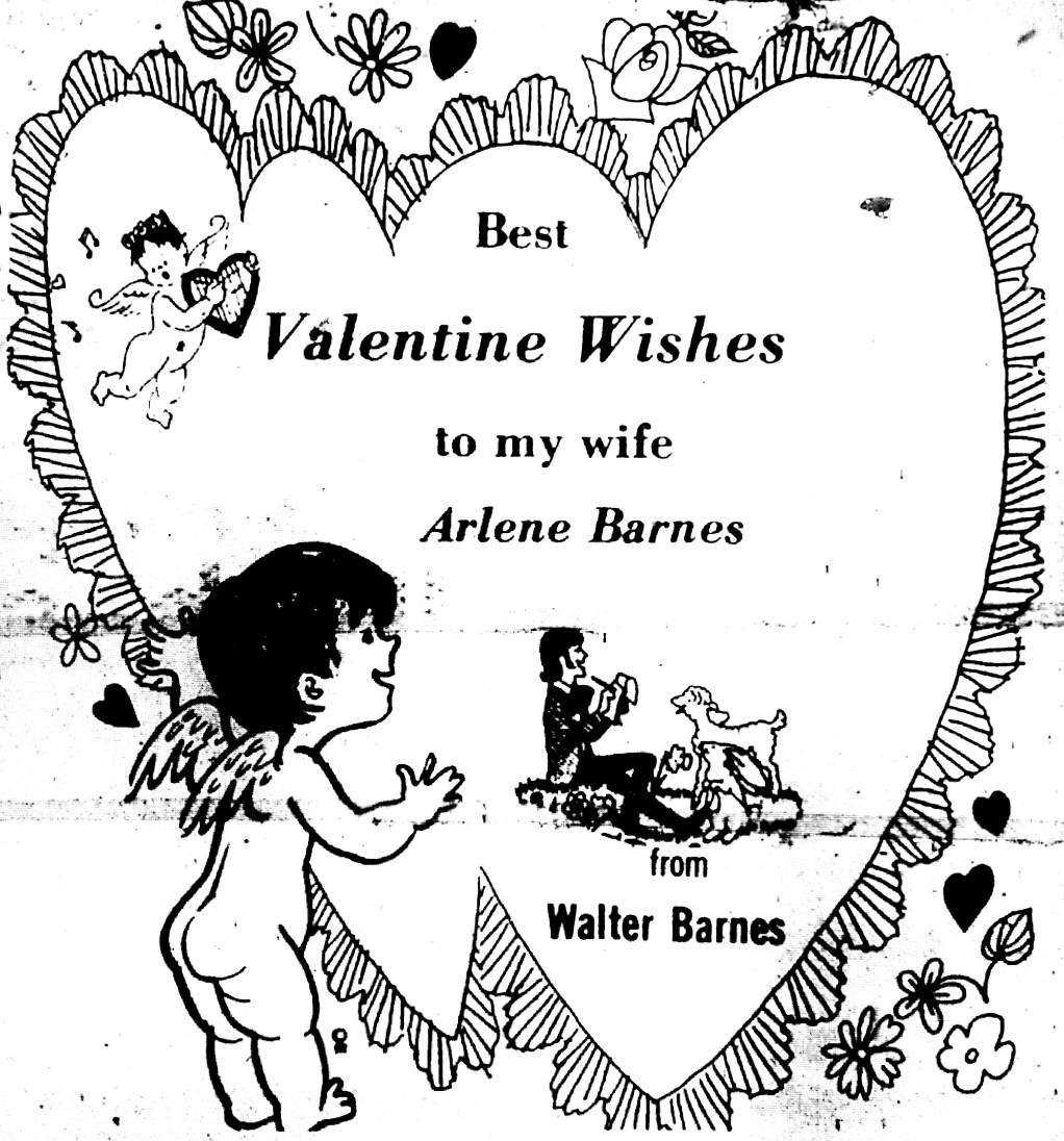 Valentine for Arlene Barnes