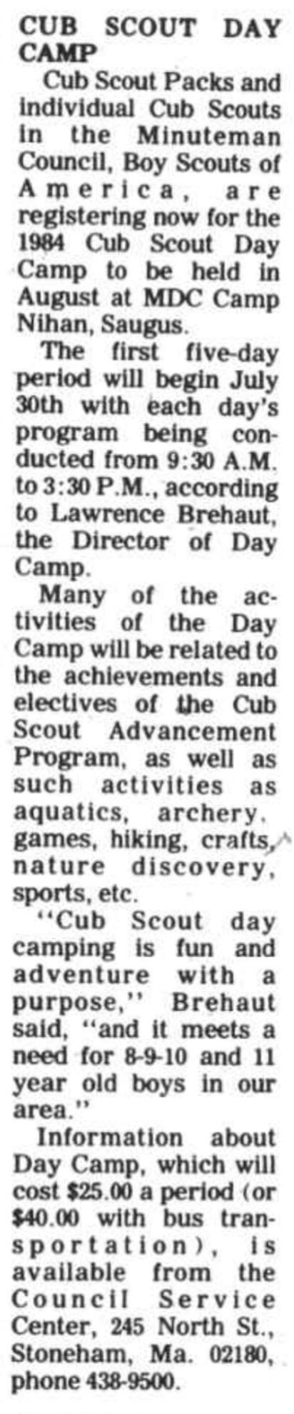 1984 Cub Scout ad