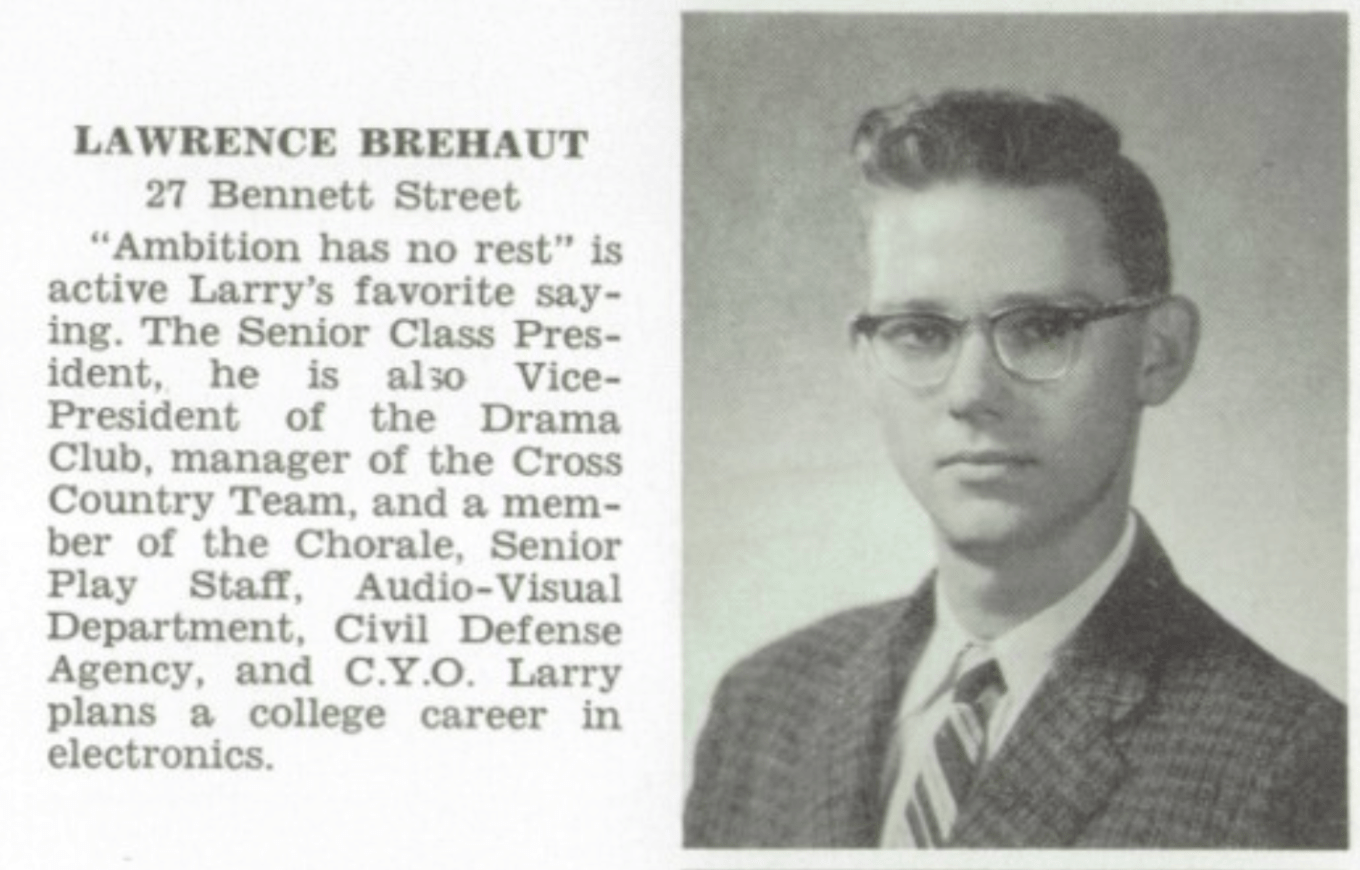Lawrence Brehaut credentials