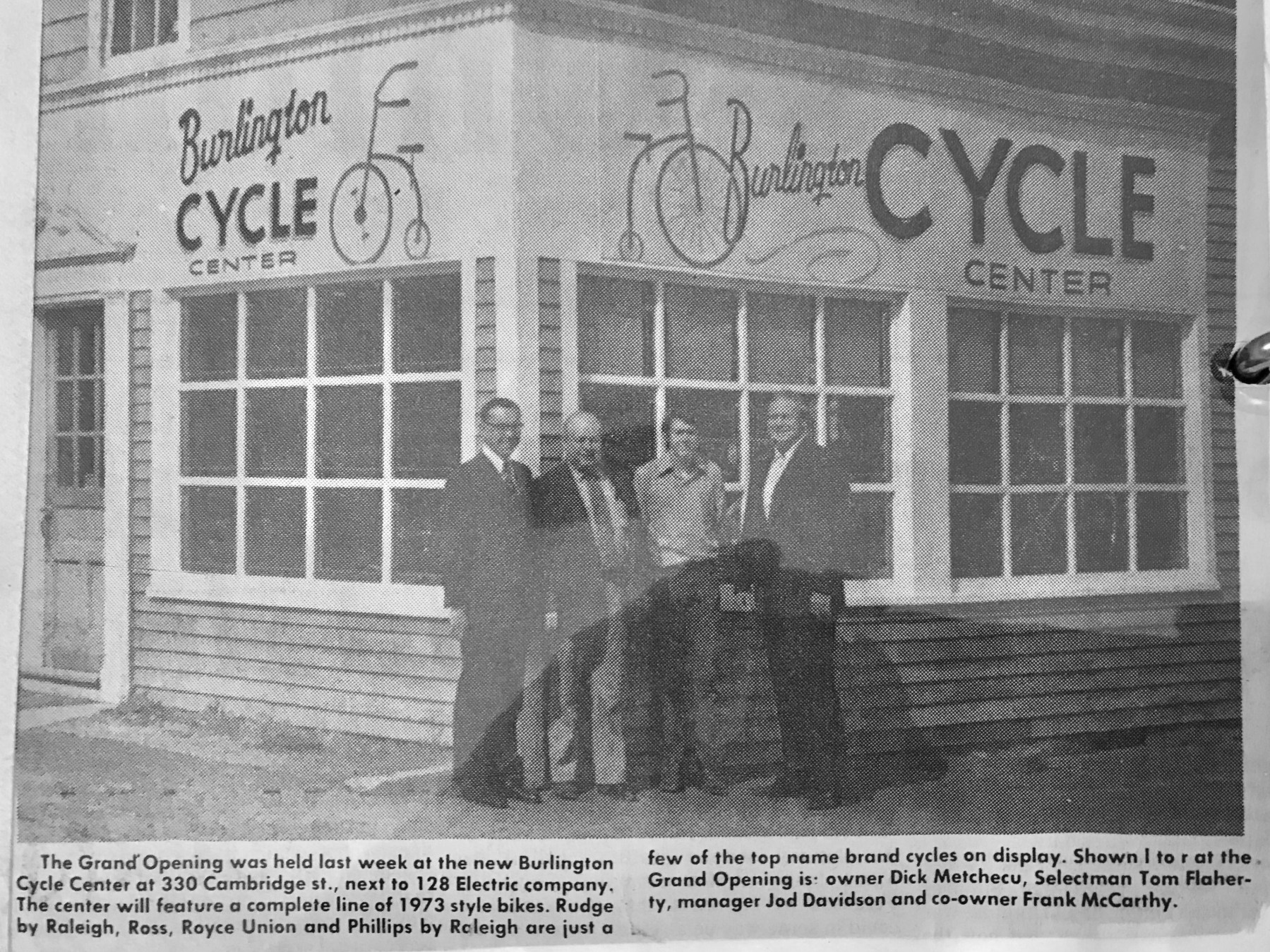 Burlington Cycle Center 1973 Burlington MA