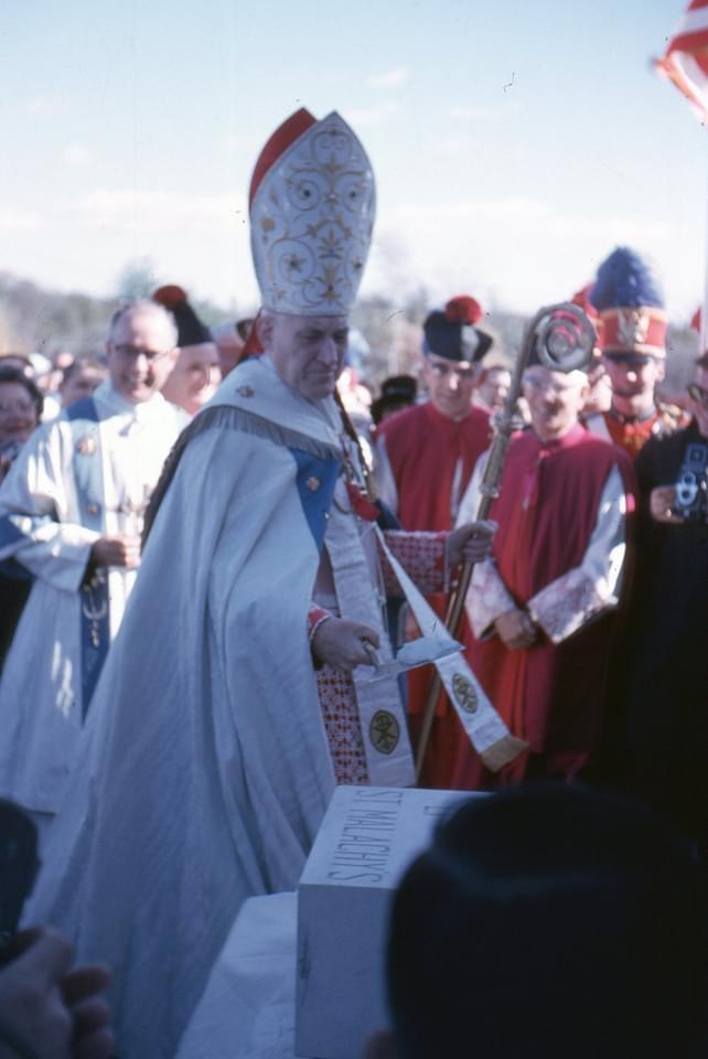 St. Malachy's dedication and cornerstone
