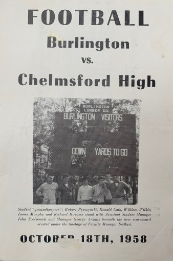 Burlington High vs Chelmsford 1958