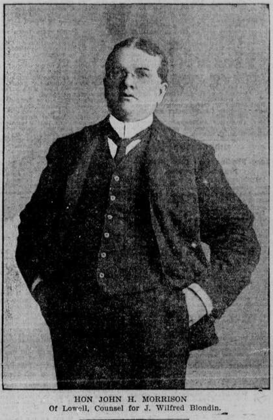 John R. Morrison, Blondin's attorney