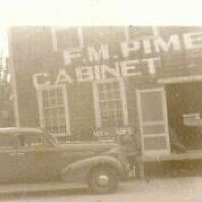 F.M. Pimentel with car, Burlington MA