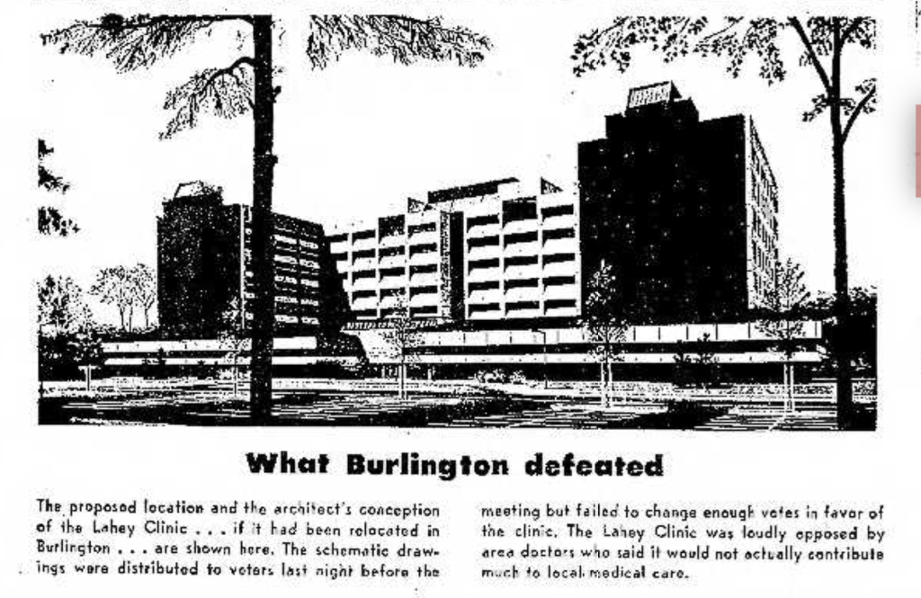 Lahey plan rejected Burlington MA