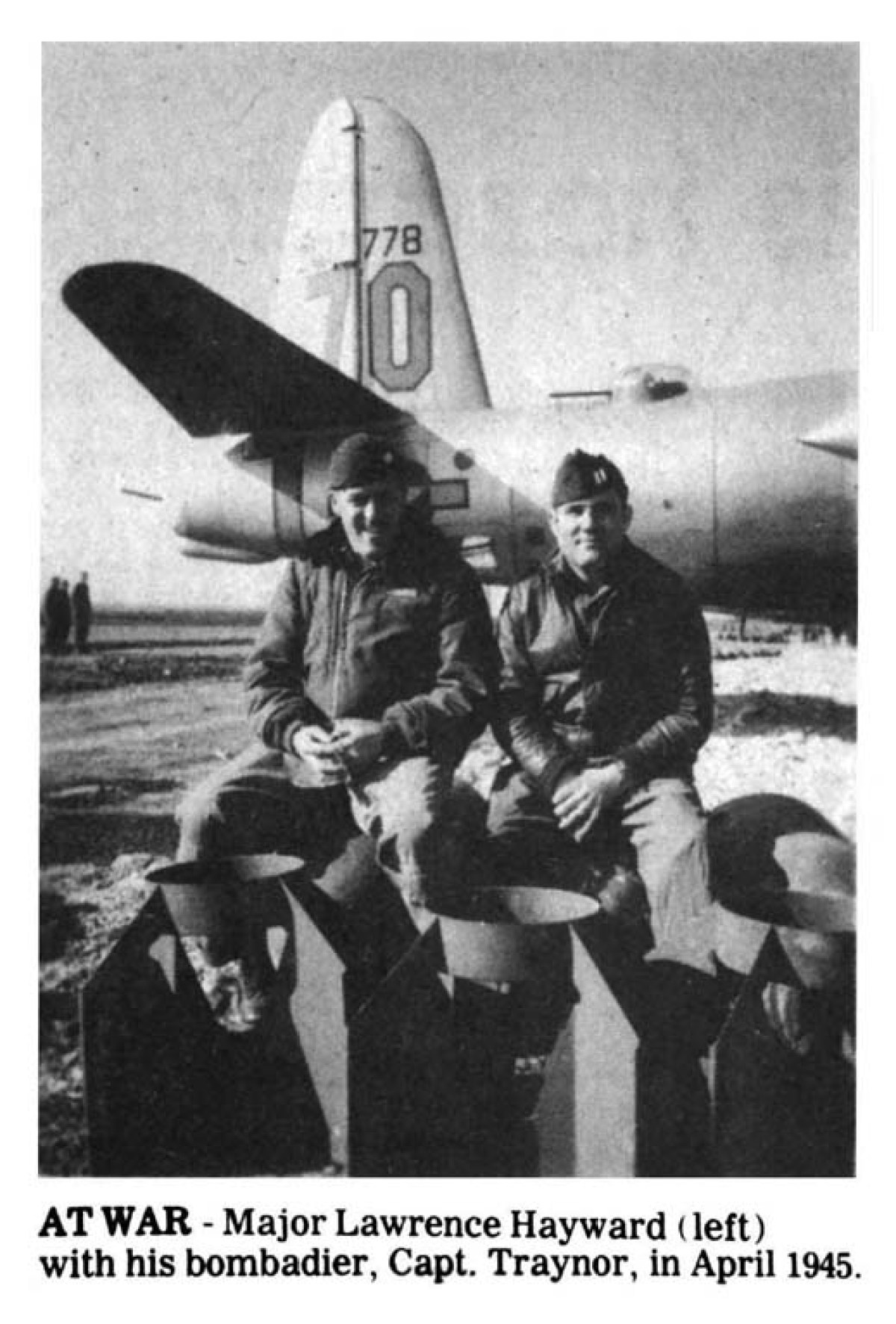 Major Lawrence Hayward (left)