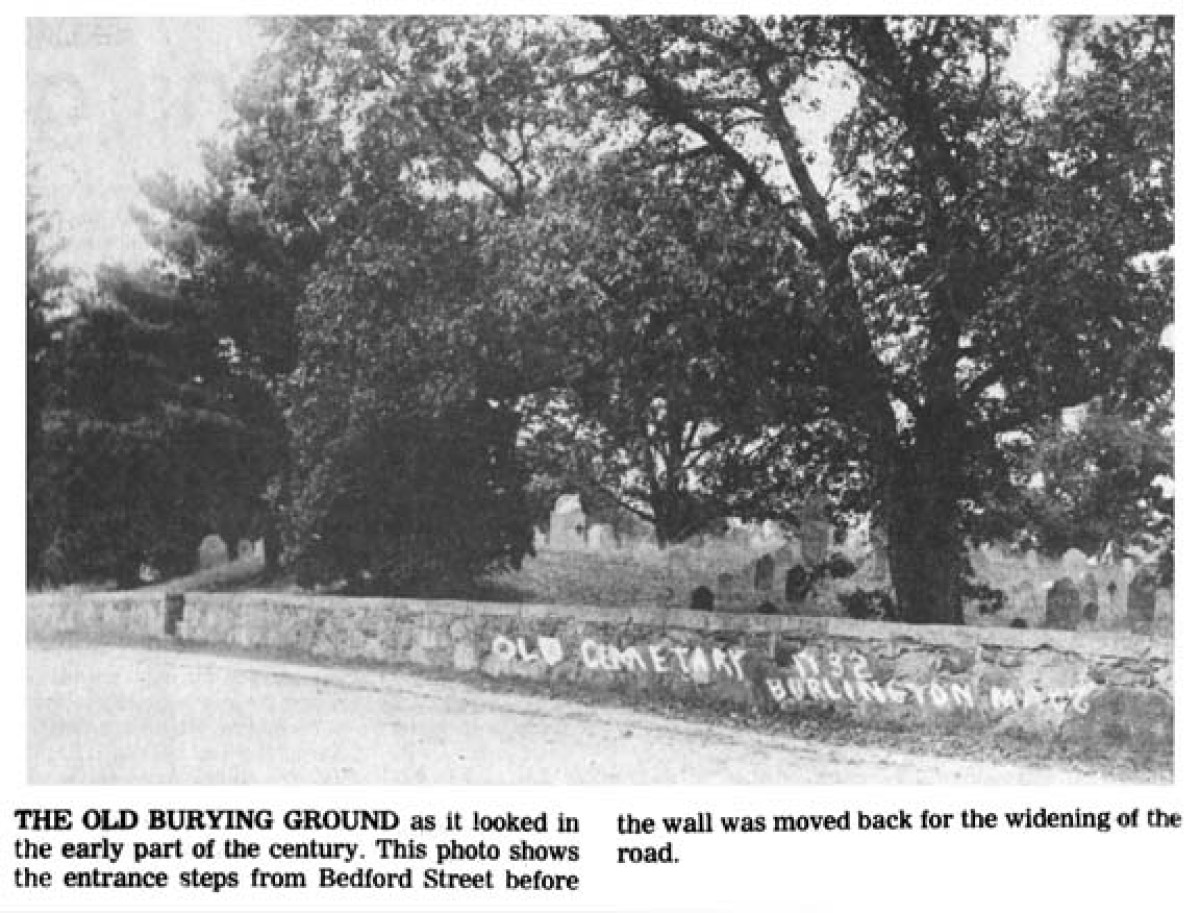 Second Parish Burial Ground Burlington MA
