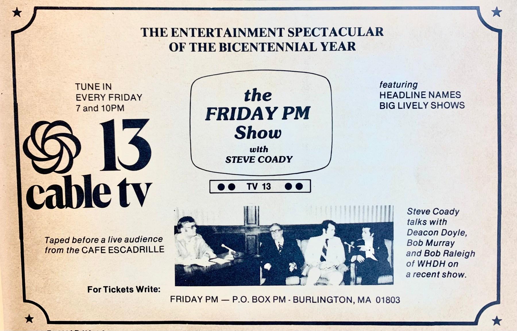 Steve Coady Channel 13 ad Burlington MA