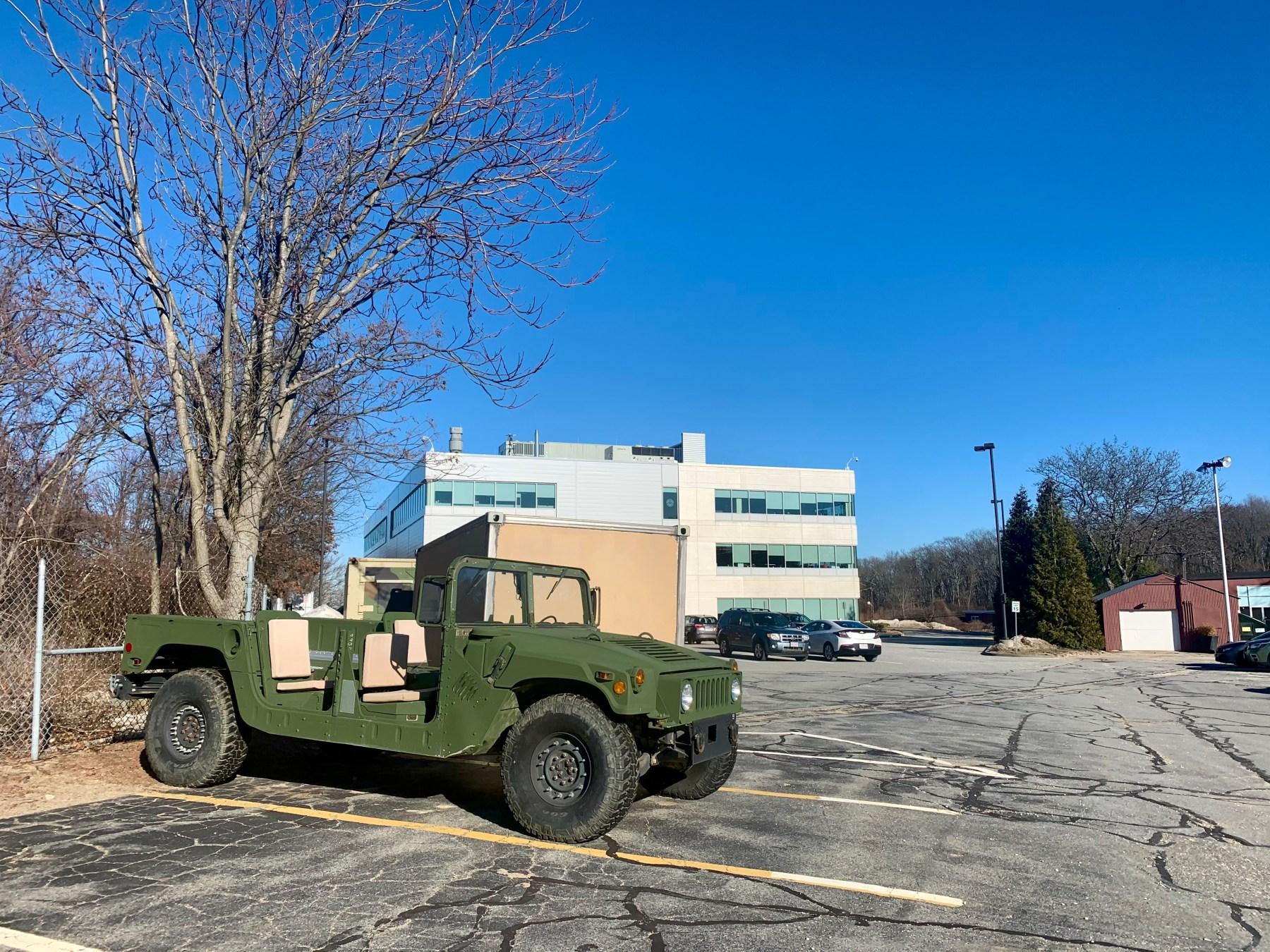 Hummer at former NIke missile base Burlington MA