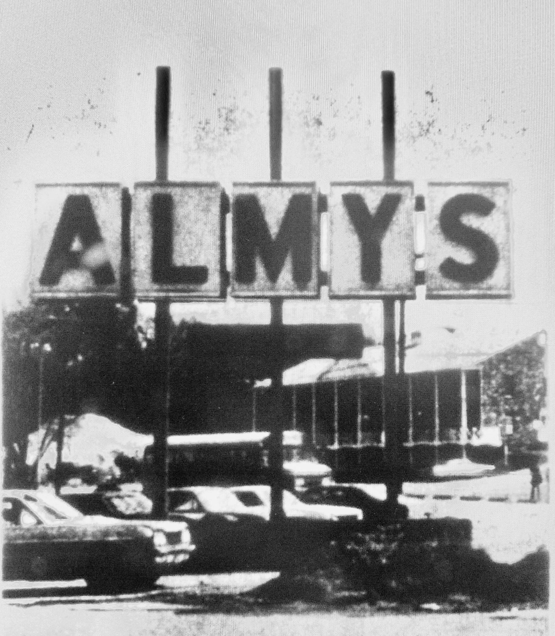 Almy's sign, 1971 Burlington, MA