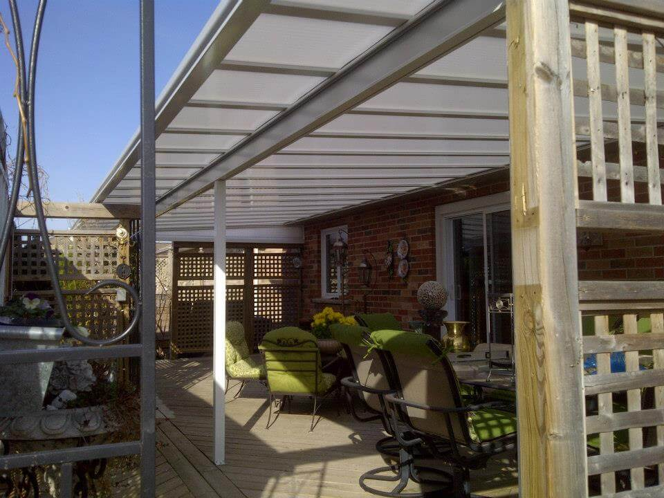 acrylic natural light patio covers