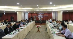 မြန်မာအစိုးရနှင့် UNFC ကိုယ်စားလှယ်ဆွေးနွေးပွဲ(Facebook)