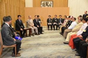 UNFC ကိုယ်စားလှယ်များနှင့် ဂျပန်ဝန်ကြီးချုပ်တို့တွေ့ဆုံကြစဉ်(UNFC)