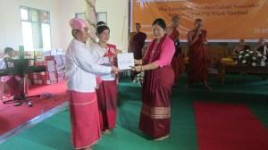 မွန်ရိုးရာ အခြေခံမိကျောင်းတူရိယာနှင့် ပတ္တလားသင်တန်းဆင်းပွဲကျင်းပခဲ့စဉ် (ဓါတ်ပုံ-မိကောန်ထဝ်)