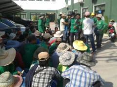 မြန်မာအလုပ်သမားများဆန္ဒပြနေစဉ်(DVB)