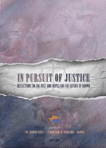 """တရားမျှတမှု ခြေရာကောက်ခြင်း""""အစီရင်ခံစာ(Copy)"""