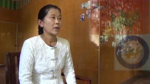 အမျိုးသမီး(မွန်)ပါတီဥက္ကဌ မိသန်းရှင်(မိလျိုင်မန်)(IMNA)