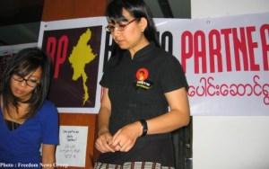 မြန်မာ့အရေးပူးပေါင်း ဆောင်ရွက်သူများအဖွဲ့မှ ဒေါ်ခင်ဥမ္မာ(Freedom News Group)