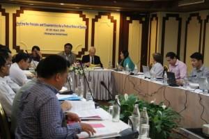 ဖက်ဒရယ်ပြည်ထောင်စု အခြေခံမူကြမ်းရေးဆွဲခြင်း အလုပ်ရုံဆွေးနွေးပွဲ(Picture-ဧရာဝတီ)