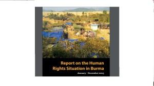 ND-Burma အစီရင်ခံစာ မျက်နှာဖုံး (Photo: ND-Burma)
