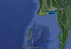 မြန်မာပြည်တောင်ပိုင်းဒေသကို Google Earth မှမြင်တွေ့ရပုံ(Google Earth)
