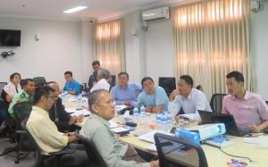အမျိုးသားအဆင့် နိုင်ငံရေးဆွေးနွေးပွဲ လုပ်ငန်းလမ်းညွန် TOR များ ရေးဆွဲရေး အလုပ်အဖွဲ့ အစည်းအဝေး(Hla Maung Shwe)