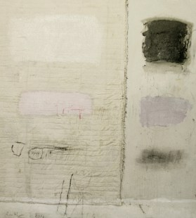 Kit Reuther, #1142, 2012; oil and textiles on canvas, 72 by 60 inches.