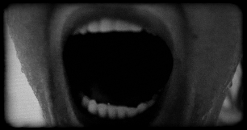 One of the dramatic closeups from the Psycho shower scene.