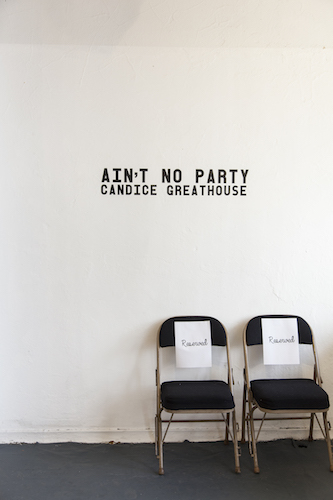 "Candice Greathouse, Reserved, 2018. Detail from ""Ain't No Party"""