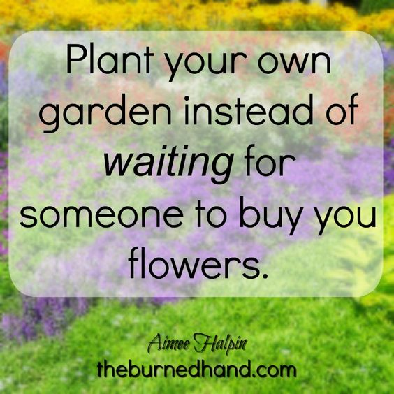 Water your own garden