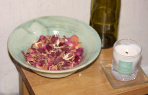 a bowl of pot pourri on a table
