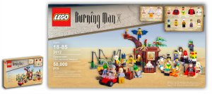 lego burning man