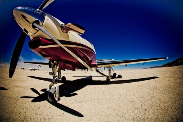 Pilatus PC-12 at Burning Man. Image: Peter Ruprecht