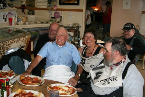 Bruno and friends enjoy some world-famous ravioli. Photo: RenoJohn
