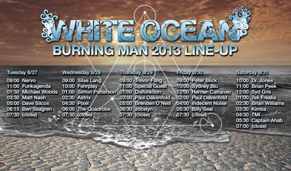white ocean lineup