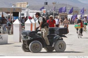 cops burning man quad